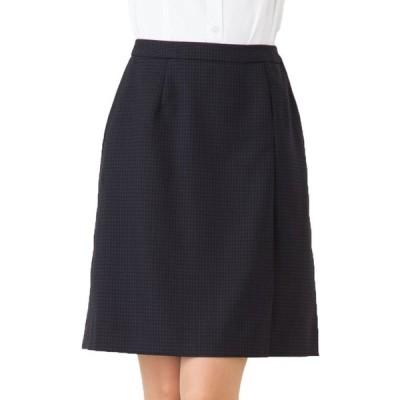 送料無料 好感度高めで、会社の顔に!大人のさりげなチェック柄プリーツスカート 事務服 オフィス制服 ひざ丈 きれいめ