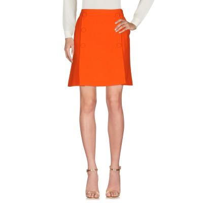 BOUTIQUE MOSCHINO ひざ丈スカート オレンジ 40 バージンウール 100% ひざ丈スカート