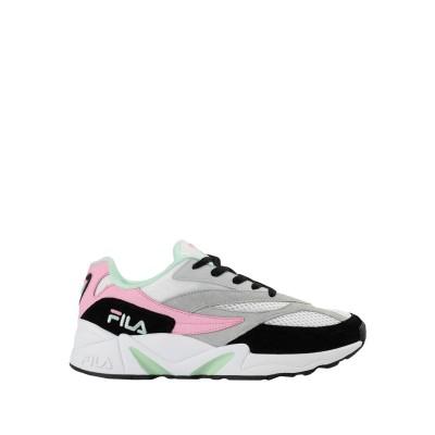 FILA スニーカー&テニスシューズ(ローカット) ホワイト 36 革 / 紡績繊維 スニーカー&テニスシューズ(ローカット)