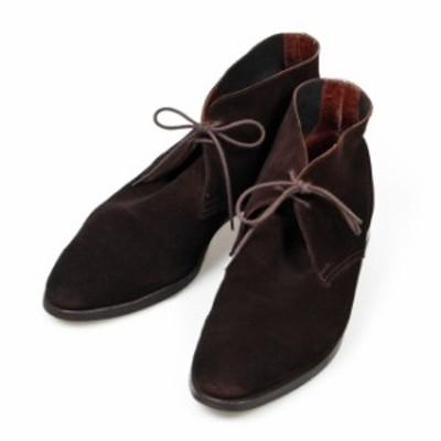 クロケット&ジョーンズ CROCKETT&JONES ハイル HAYLE チャッカブーツ UK7.5E 341ラスト ダークブラウン スエード イギリス製 メンズ 靴