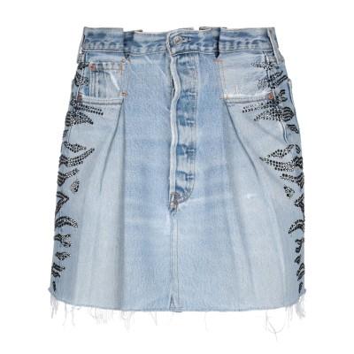 RE/DONE with LEVI'S デニムスカート ブルー 25 コットン 100% / スワロフスキー デニムスカート