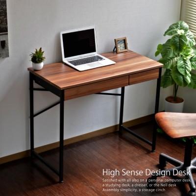 パソコンデスク 幅90cm デスク PCデスク ワークデスク オフィスデスク 机 つくえ 学習机 勉強机 収納付き 引き出し付き 送料込 YE004
