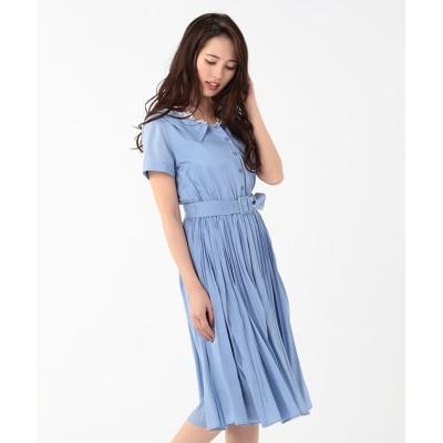 【レッセ・パッセ】 SummerプリーツシャツOP レディース ダルブルー 36 LAISSE PASSE