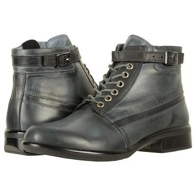 Naot Kona レディース ブーツ Vintage Ash Leather/Black Combo
