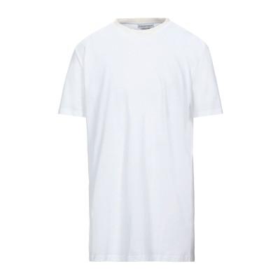 アレキサンダー マックイーン ALEXANDER MCQUEEN T シャツ ホワイト S コットン 100% / シルク / ナイロン / ポリウ