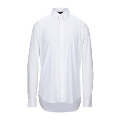 LES HOMMES シャツ ホワイト 44 コットン 97% / ポリウレタン 3% シャツ