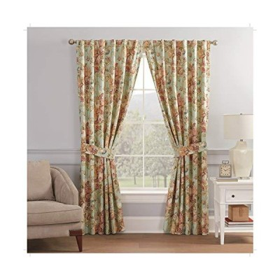 Waverly Spring Bling Rod Pocket Curtains for Living Room, Double Panel