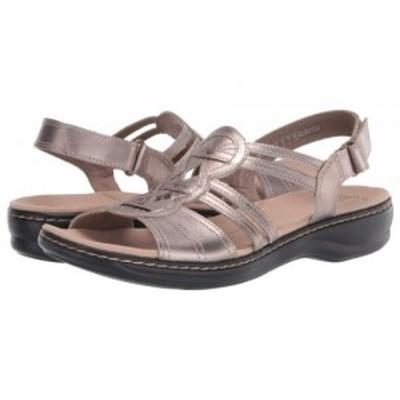 Clarks クラークス レディース 女性用 シューズ 靴 サンダル Leisa Janna Pewter Metallic Leather【送料無料】