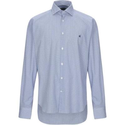 ブルックスフィールド BROOKSFIELD メンズ シャツ トップス patterned shirt Azure