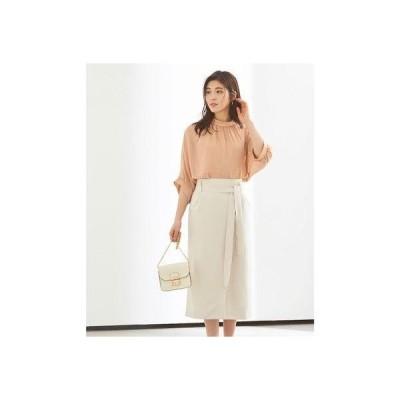 ユアーズ ur's リボン付ラップスカート (オフホワイト)