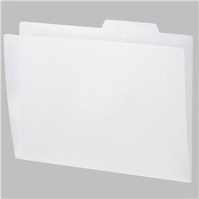 ds-2312833 (まとめ)TANOSEE PP製個別フォルダーA4 ホワイト 1セット(50冊:5冊×10パック)【×3セット】 (ds2312833)