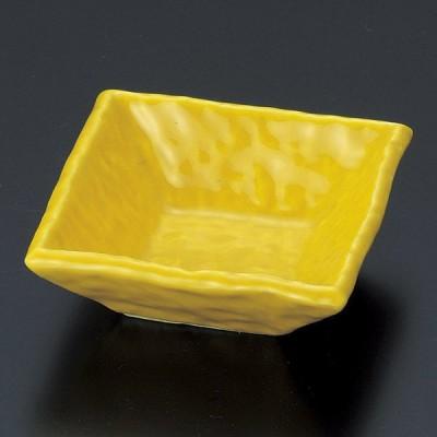 業務用食器 黄正角千代久 7.7×7.7×2.8cm 珍味