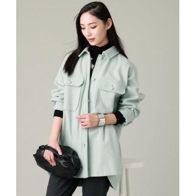 EVEX by KRIZIA/エヴェックス バイ クリツィア ウールレットジャージシャツジャケット ライトグリーン3 40