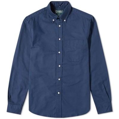 ギットマンヴィンテージ Gitman Vintage メンズ シャツ トップス Overdyed Oxford Shirt Navy