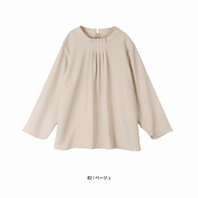 タック衿ブラウス【LL―5L】(フルールバイミントブリーズ/fleur by mint breeze)