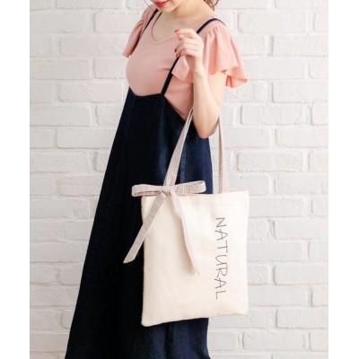 夢展望(YUMETENBO) / コンビネーションチェックリボントートバッグ WOMEN バッグ > トートバッグ