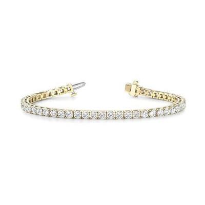 7 Carat Classic Diamond Tennis Bracelet 4 Prong 14K Yellow Gold Value Plus Collection【並行輸入品】