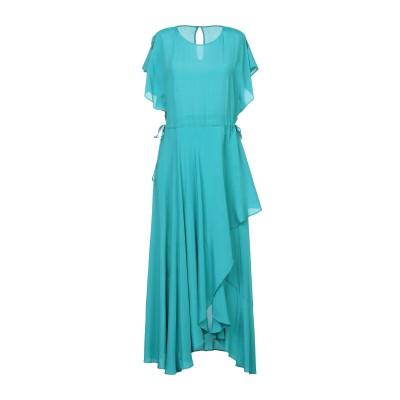 ツインセット シモーナ バルビエリ TWINSET 7分丈ワンピース・ドレス ターコイズブルー 40 レーヨン 66% / シルク 34% 7分丈ワ