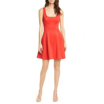 テッドベーカー レディース ワンピース トップス Lohanna Fit & Flare Dress RED