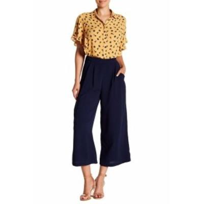 ファッション パンツ Elodie NEWNavy Blue Womens Size Large L Cropped Flared Dress Pants #332
