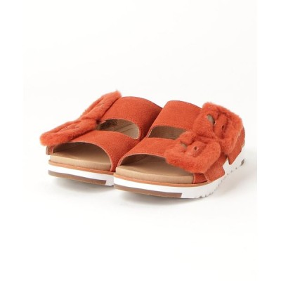 atmos pink / UGG W FLUFF INDIO (RED ROCK) WOMEN シューズ > サンダル
