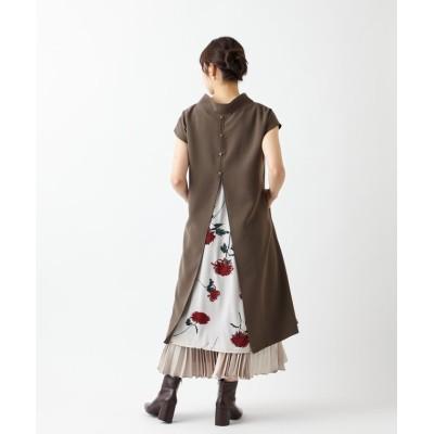 (FURIFU/フリフ)【乱菊・春牡丹・ロル】抜け衿背開きワンピース/レディース モカ
