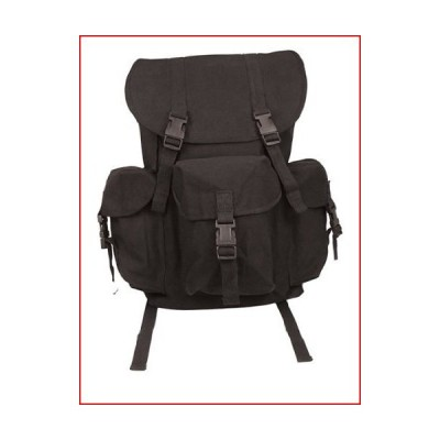 Rothco Black Canvas Outfitter Rucksack【並行輸入品】
