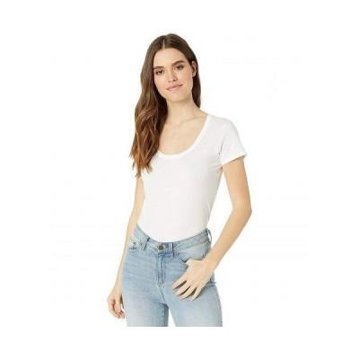 Alternative オルタネイティブ レディース 女性用 ファッション Tシャツ 100% Organic Cotton Short Sleeve Scoop Tee - Earth White