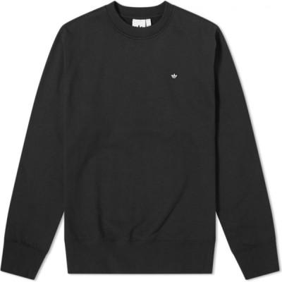 アディダス Adidas メンズ スウェット・トレーナー トップス premium essentials crew sweat Black
