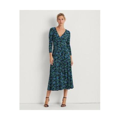 LAUREN RALPH LAUREN/ローレン ラルフ ローレン フローラル ジャージー サープリス ドレス 001ブラック 2