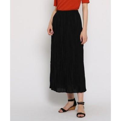 ◆ランダムプリーツロングスカート