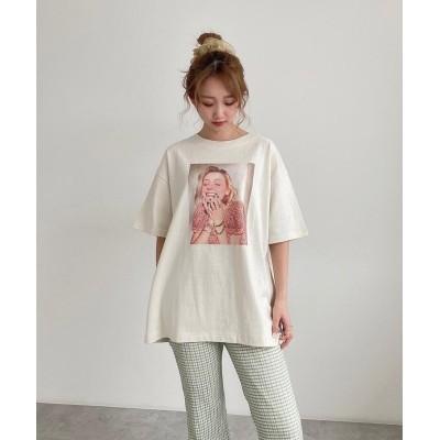 (FREE'S MART/フリーズマート)デコレーションモデルTシャツ/レディース ホワイト1
