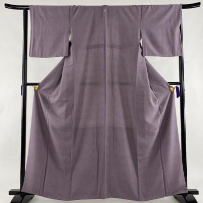 江戸小紋 美品 優品 幾何学 紫 袷 身丈163.5cm 裄丈65cm M 正絹 中古