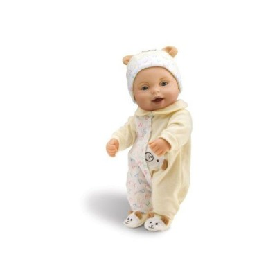 Wild Planet Water Babies 13 Caucasian Infant Yellow Teddy Bear (テディベア) with Alphabet Print Sl