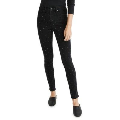 メイドウェル レディース デニムパンツ ボトムス High-Rise Metallic Dot Ankle Skinny Jeans