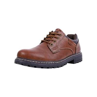 [MORENDL] ワークブーツ メンズ 登山靴 トレッキングシューズ アウトドア レザー シューズ (ダークブラウン 25.5 cm M)