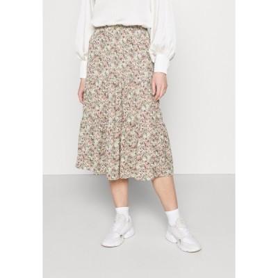 オンリー スカート レディース ボトムス ONLKENDALL SKIRT - A-line skirt - pumice stone/green