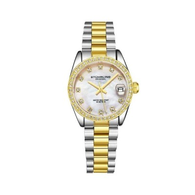 スターリング 腕時計 アクセサリー レディース Women's Gold - Silver Tone Stainless Steel Bracelet Watch 31mm Gold