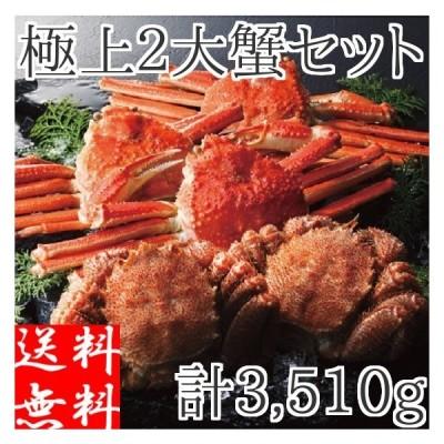 カニ セット 二大蟹 約3.51kg (ズワイガニ3尾 毛ガニ2尾) 蟹 姿 ボイル 冷凍 ギフト カニ味噌 詰め合わせ