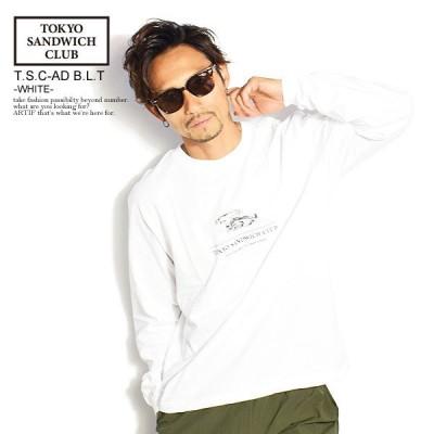 TOKYO SANDWICH CLUB トウキョウサンドウィッチクラブ 長袖 Tシャツ tシャツ ロンT S C AD B L T WHITE メンズ おしゃれ