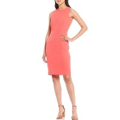 アントニオメラニー レディース ワンピース トップス Gracen Stretch Crepe Sleeveless Sheath Dress Pomegranate