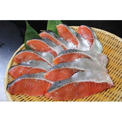 オホーツク産 新巻鮭切身 約1kg(約100g2切入れ×5パック)