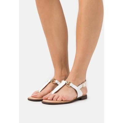 デューンロンドン レディース 靴 シューズ LIMBA - T-bar sandals - white