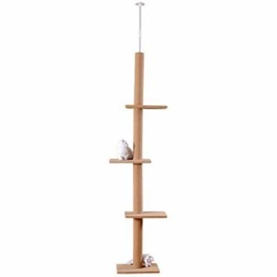 COM-SHOT 【 天井つっぱり棒で倒れない 】 狭いお部屋でも設置可能 省スペース のびのび キャットポール キャットタワー 猫 用品 ペット