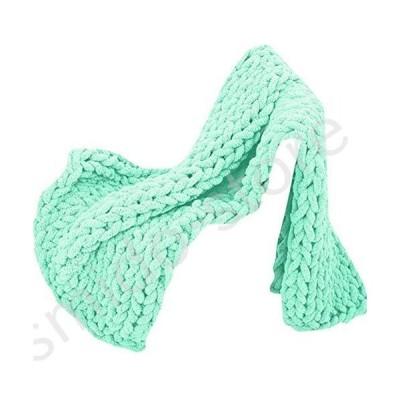 新品未使用!!送料無料!!Wowdawn Chunky Knit Blanket,Ultra-Soft Knit Blanket/Warm and Cozy Chenille Blanket/Luxurious Design for Home