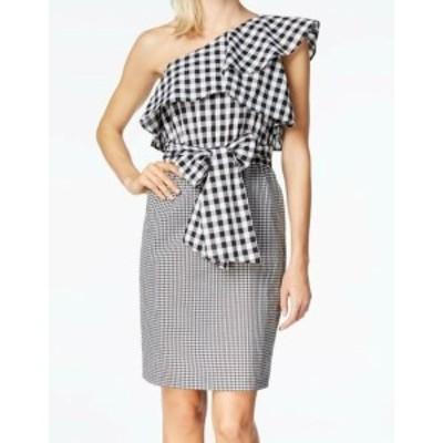 Calvin Klein カルバンクライン ファッション ドレス Calvin Klein NEW Black Womens Size 4 Gingham Ruffle Sheath Dress