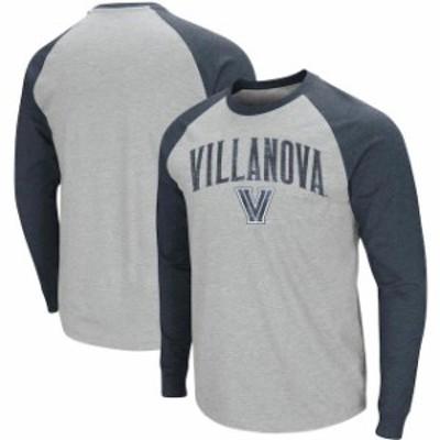 Colosseum コロセウム スポーツ用品  Colosseum Villanova Wildcats Heathered Gray Olympus III Raglan Long Sleeve T-Shirt