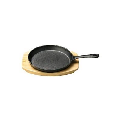鉄・木 持ち手付き和美作日ステーキ皿セット 大 1600949
