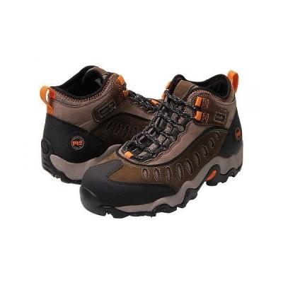 Timberland PRO ティンバーランド メンズ 男性用 シューズ 靴 ブーツ ワークブーツ Mudslinger Mid Waterproof Steel Toe - Brown Nubuck Leather