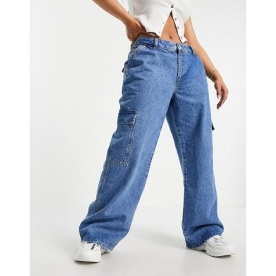 エイソス ASOS DESIGN レディース ジーンズ・デニム Hourglass Organic Low Rise 'Super Relaxed' Dad Jeans With Patch Pockets In Lightwash